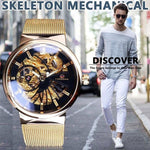Stainless steel Skeleton Top Brand Luxury Mechanical Wristwatches