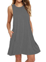 Sleeveless Pocket Vest Dress
