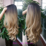 Women Free Parting Natural Brown Body Wave Hair Wig
