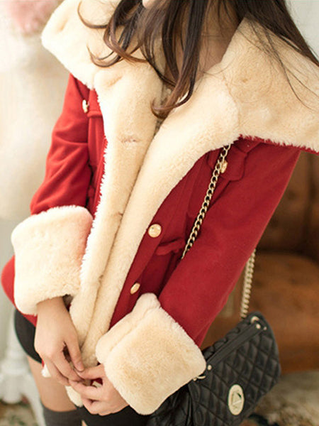 Coat - Warm Pockets Shawl Collar Casual Coat