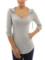 Pocket Hoody Hoodie Long Sleeve Slim Sweatshirt Pullover Jumper Coat Tops