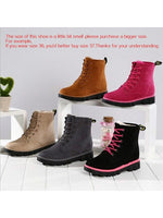 Warm Ankle Snow Boots Fur Thicken Ski Outdoor Martin Work Shoes