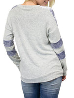 Striped Long-sleeve Sweatshirt