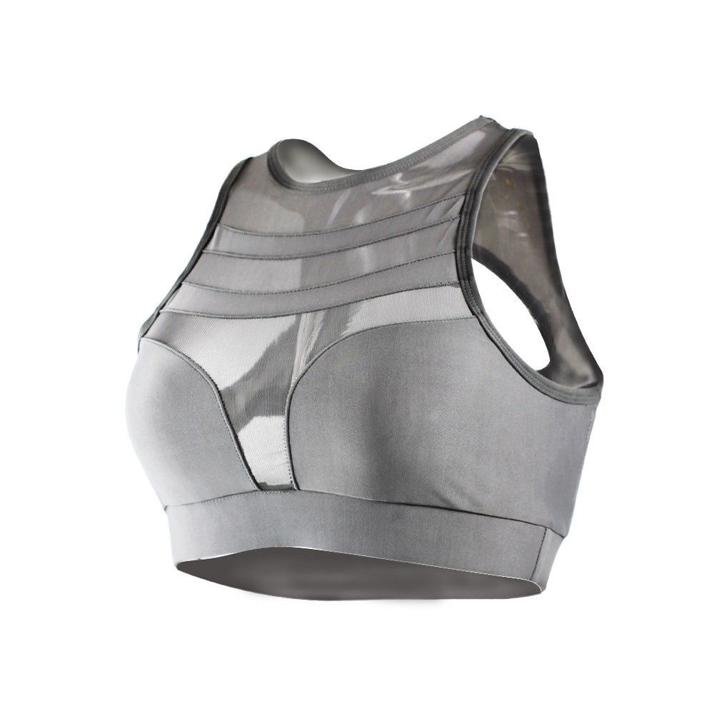 Shockproof Mesh Stitching Sports Bra Yoga Fitness Running Vest Report