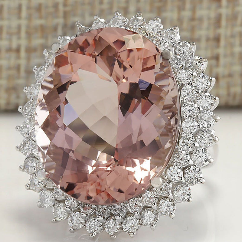Oversized Oval Pink Ring