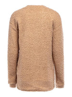 New Versitile Solid Color Loose Knit Sweater