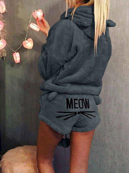 Sweet Meow Long Sleeve Embroidered Women Suit Sets