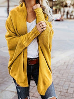 Winter Fashion Long Sleeve Loosed Coat  Outwear Solid Color Cardigan Jacket