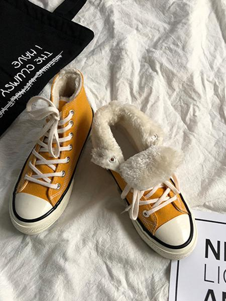 Women's Converse fur Sneakers Suede Furry Lace Up Shoes