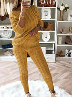 Jumpsuits - 2018 Women's Stylish Two Piece Casual Warm Knit Sets