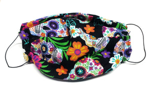 Surgical Style Face Mask , Hawaiian Sugar Skulls , Dust Mask, Free Shipping - 1 filter included