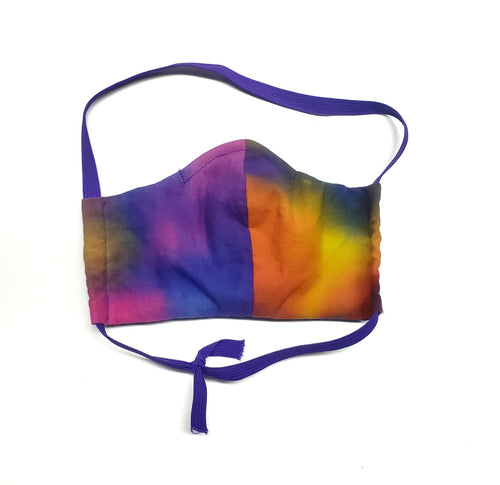 Tie Dye Face Mask , Fitted Cotton, Wire Nose, Filter Pocket WITH FILTERS, Dust Mask, Free Shipping