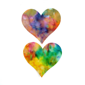 Tie Dye Pastie  Massive Heart Pasties - XL