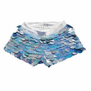 Sequin Shorts Hot Pants-  Holographic Sparkle