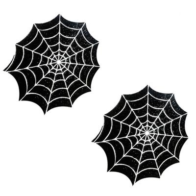 Freaking Awesome Glitter Blacklight Spider Web Pastie Nipztix