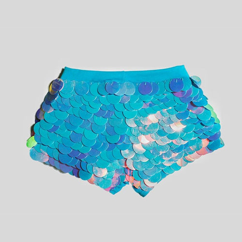 Sequin Shorts Hot Pants-  Cotton Candy