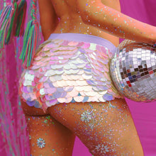 Load image into Gallery viewer, Sequin Shorts Hot Pants-  Tipsy Unicorn