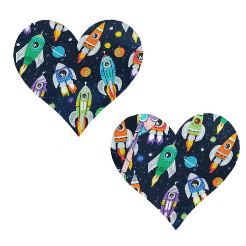 GO Rocket Ships Massive Heart Pasties - XL