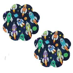 Space Rockets Flower Pasties