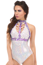 Load image into Gallery viewer, Pandora's Holo Lace-Up Front Harnesses In Multiple Colors