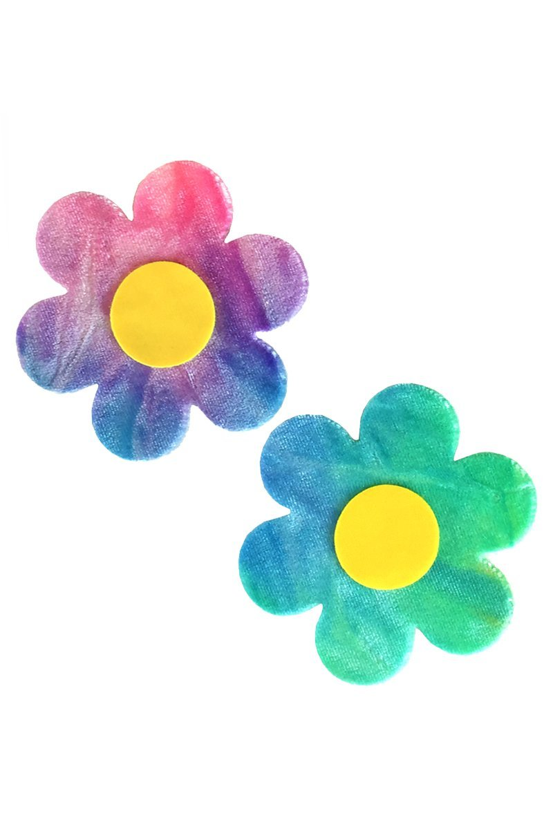 Daisy Pasties in Bubble Tie Dye Velvet