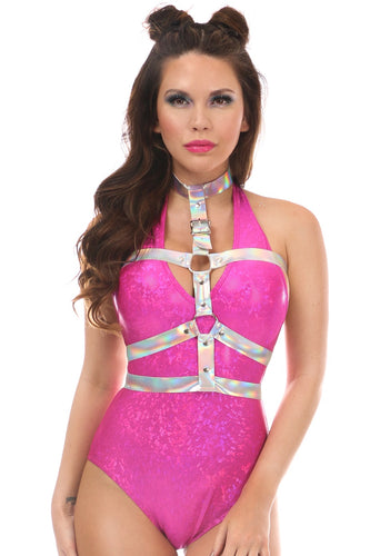 Silver Holo Body Harness