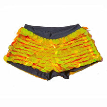 Load image into Gallery viewer, Sequin Shorts Hot Pants-  Solar Flare