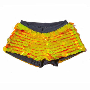 Sequin Shorts Hot Pants-  Solar Flare