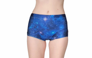 Blue Galaxy Shorts - Star Lady