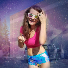 Load image into Gallery viewer, Sequin Shorts Hot Pants-  Cotton Candy