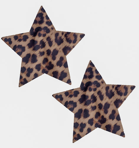Star Pasties that are Cheetah Print