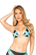 Load image into Gallery viewer, Cross and Mesh Triangle Bikini Top