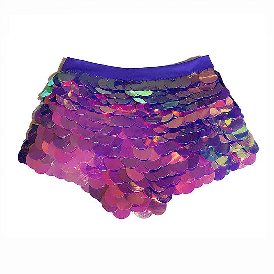 Sequin Shorts Hot Pants- Purple Haze