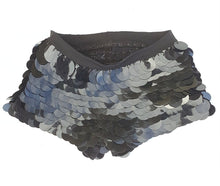 Load image into Gallery viewer, Sequin Shorts Hot Pants-  Black As My Soul