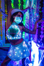 Load image into Gallery viewer, Light-Up Sequin Skater Skirt