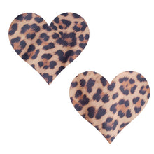 Load image into Gallery viewer, Cheetah Massive Heart Pasties - XL