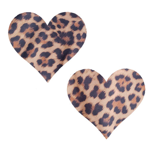 Cheetah Massive Heart Pasties - XL