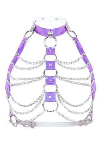 Knockout Queen PVC Chain Top Harness
