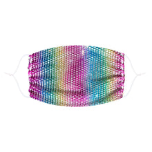 Load image into Gallery viewer, Sparkle Jewel Mesh Glitter Face Masks With Adjustable Ear Loops for Raves and Festivals - Rainbow Colors