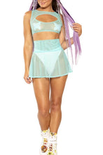 Load image into Gallery viewer, Sheer Mesh Skater Skirts