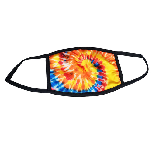 Tie Dye Orange Sugar Face Mask - with 2 filters- Ready To Ship