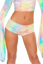Load image into Gallery viewer, Pastel Velvet Tie Dye Booty Shorts