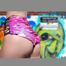 Load image into Gallery viewer, Pink High Waist Sequin Shorts For Festivals