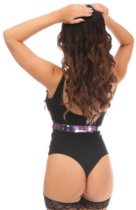 Purple Metallic Body Harness