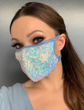 Load image into Gallery viewer, Pretty Little Sequins Face Mask - Rave Mask Style