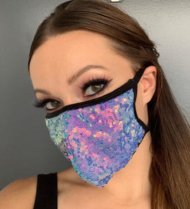 Pretty Little Sequins Face Mask - Rave Mask Style