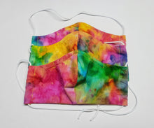 Load image into Gallery viewer, Sherbet Tie Dye Face Mask , Fitted Cotton, Wire Nose, Filter Pocket WITH FILTERS