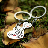 1 Pair Lovers Key to My Heart Keychain Valentine's Day Wedding Favors And Gifts Souvenirs Wedding Event & Party Supplies - www-skylandmart-com