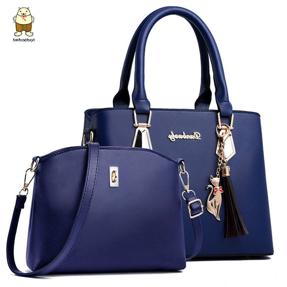 Beibaobao 2pc/set Women Fashion Casual Totes Luxury Handbags Designer Shoulder Bags New Bags for Women 2020 Composite Bag Bolsos