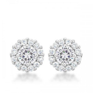 Bella Bridal Earrings In Clear (pack of 1 ea)